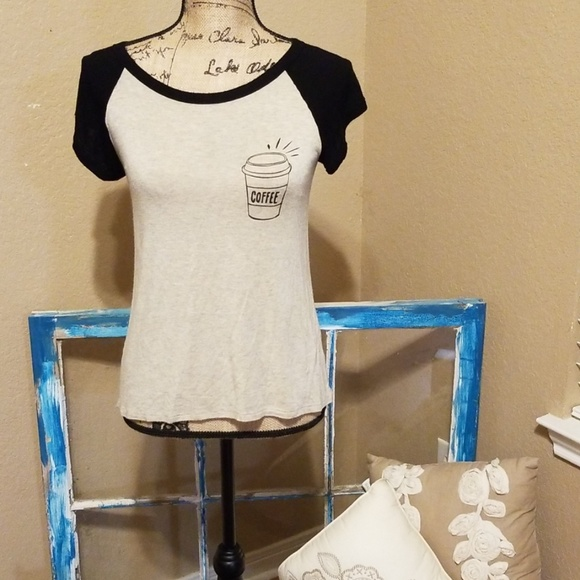 d2ffa79ce08f3 french pastry Tops - Sale 3/$20 French Pastry coffee graphic tee